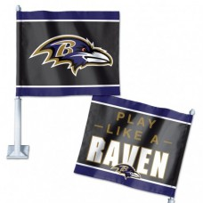 "Baltimore Ravens Slogan Car Flag 11.75"" X 14"""