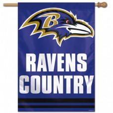 "Baltimore Ravens (Ravens Country) Vertical Flag 28"" X 40"""