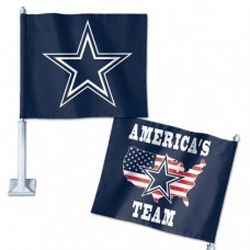 "Dallas Cowboys Slogan Car Flag 11.75"" X 14"""