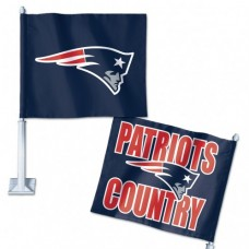 "New England Patriots Slogan Car Flag 11.75"" X 14"""