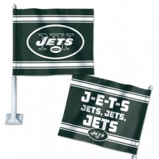 "New York Jets Slogan Car Flag 11.75"" X 14"""