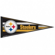 "Pittsburgh Steelers Mesh Bkg Classic Pennant, Carded 12"" X 30"""