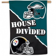 "Pittsburgh Steelers / Philadelphia Eagles House Divided Vertical Flag 28"" X 40"""