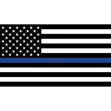 Thin Blue Line 3'x5' Flag (USA)