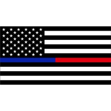 Thin Red/Blue Line 3'x5' Flag (USA)