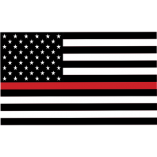Thin Red Line 3'x5' Flag (USA)