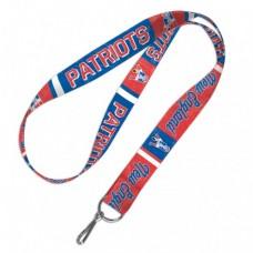 "New England Patriots / Classic Logo Retro Lanyard 1"""
