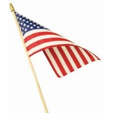 "USA Stick Flag 4""x6"""