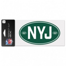 "New York Jets Code Perfect Cut Decal One 4""X8"" Decal"