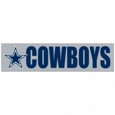 "Dallas Cowboys Bumper Strip 3"" X 12"""