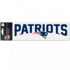 "New England Patriots Wordmark Design Perfect Cut Decals 3"" X 10"""
