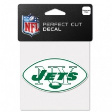 "New York Jets / Classic Logo Retro Perfect Cut Color Decal 4"" X 4"""