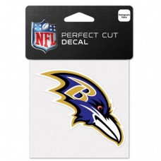 "Baltimore Ravens Perfect Cut Color Decal 4"" X 4"""