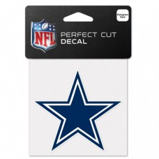 "Dallas Cowboys Perfect Cut Color Decal 4"" X 4"""