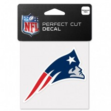 "New England Patriots Perfect Cut Color Decal 4"" X 4"""