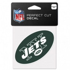 "New York Jets Perfect Cut Color Decal 4"" X 4"""