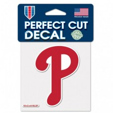"Philadelphia Phillies Logo Perfect Cut Color Decal 4"" X 4"""