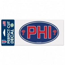 "Philadelphia Phillies Code Perfect Cut Decal One 4""X8"" Decal"