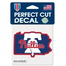 "Philadelphia Phillies State Perfect Cut Color Decal 4"" X 4"""